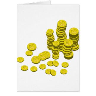 Cartão Moedas douradas