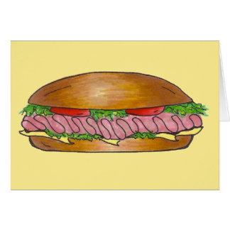 Cartão Moedor do sub do Hoagie do queijo do presunto do