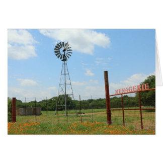 Cartão Moinho de vento no rancho da mistura variada