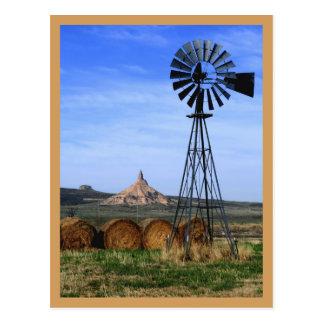 Cartão - moinho de vento ocidental (dia)