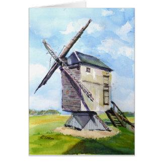 Cartão Moinho de vento velho