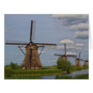 Cartão moinhos de vento do local do património mundial de