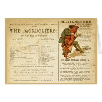 Cartão Molde dos Gondoliers
