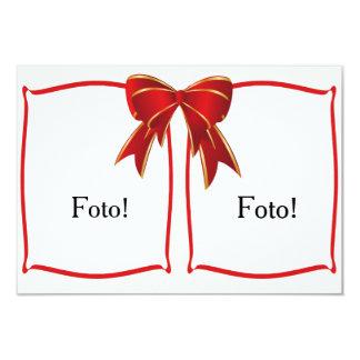 """Cartão moldura """"Duplo face"""" Convite 8.89 X 12.7cm"""