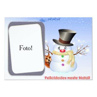 """Cartão moldura """"Felicidades neste Natal"""" Convite 12.7 X 17.78cm"""