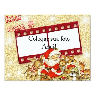 """Cartão moldura """"Feliz Natal!!!"""" Convite 10.79 X 13.97cm"""