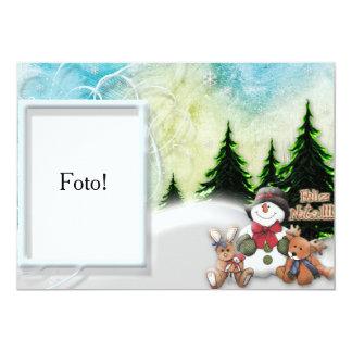 "Cartão moldura ""Feliz Natal na neve"" Convite 12.7 X 17.78cm"
