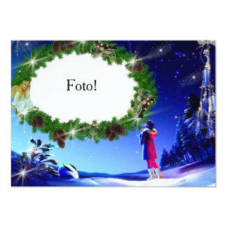 """Cartão moldura """"Noite de Natal"""" Convite 12.7 X 17.78cm"""