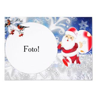 """Cartão moldura """"Papai Noel bola"""" Convite 11.30 X 15.87cm"""