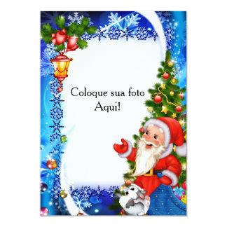 """Cartão Moldura para foto """"Noel"""" Convite 12.7 X 17.78cm"""