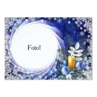 """Cartão moldura """"Vela natalina"""" Convite 12.7 X 17.78cm"""