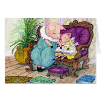 Cartão Momma do porco e cópia de Clara