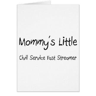 Cartão Mommys pouco serviço civil jejua flâmula