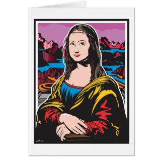 Cartão Mona Lisa