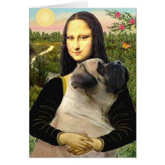 Cartão Mona Lisa - Mastiff de Bull #1