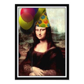 Cartão Mona Lisa - menina do aniversário
