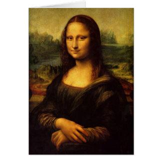 Cartão Mona Lisa por Leonardo da Vinci