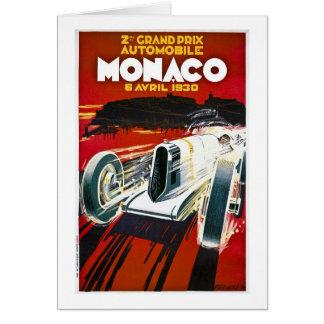 Cartão Monaco Prix grande 1930