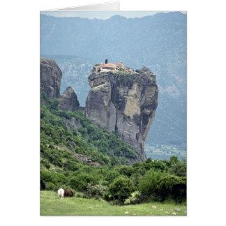 Cartão Monastério em Meteora, piscina Europa