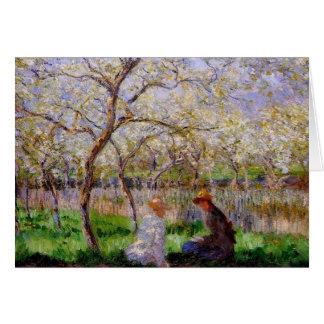 Cartão Monet - primavera