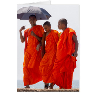 Cartão Monges budistas