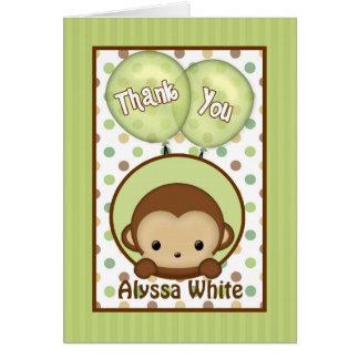 Cartão Monkey o obrigado do verde do chá de fraldas MPPv4