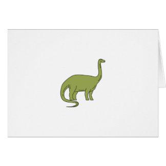 Cartão Mono linha do Brontosaurus