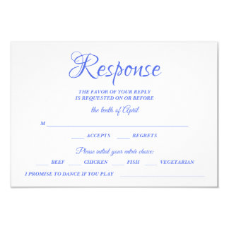 Cartão Monograma Wedding azul da caligrafia RSVP da