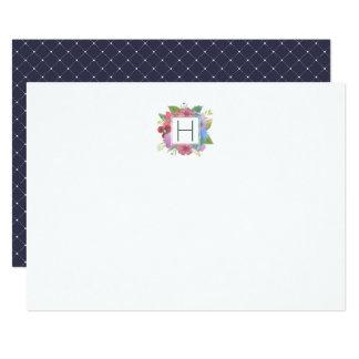 Cartão Monogrammed dos artigos de papelaria do Convite 12.7 X 17.78cm