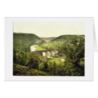 Cartão Monsal Dale III., Derbyshire, Inglaterra magnífica