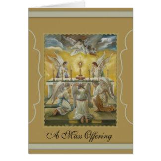 Cartão Monstrance do altar da adoração do Eucaristia dos