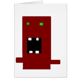 Cartão monstro louco #2