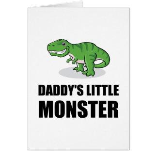 Cartão Monstro pequeno de Daddys
