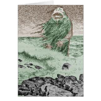Cartão Monstro que sai da água
