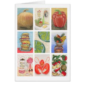 Cartão Montagem do desafio da comida