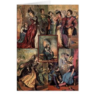 Cartão Montagem do Natal de Cinderella do vintage