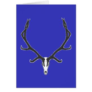 Cartão Montagem européia do crânio dos alces de Bull, bw