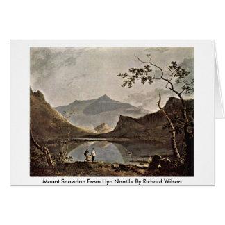 Cartão Montagem Snowdon de Llyn Nantlle por Richard