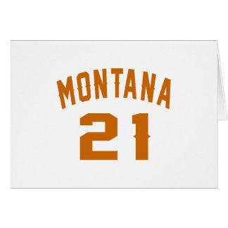 Cartão Montana 21 designs do aniversário