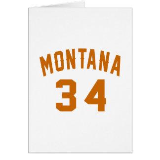Cartão Montana 34 designs do aniversário