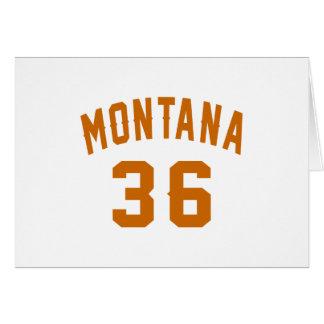 Cartão Montana 36 designs do aniversário