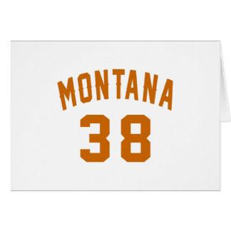 Cartão Montana 38 designs do aniversário