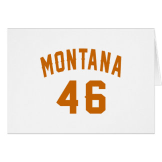Cartão Montana 46 designs do aniversário