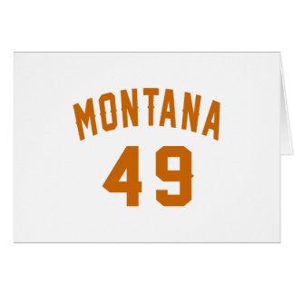 Cartão Montana 49 designs do aniversário