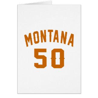 Cartão Montana 50 designs do aniversário