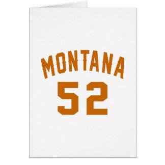 Cartão Montana 52 designs do aniversário