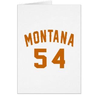 Cartão Montana 54 designs do aniversário