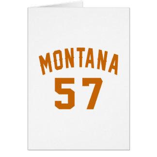 Cartão Montana 57 designs do aniversário