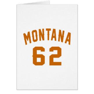 Cartão Montana 62 designs do aniversário