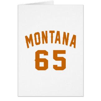 Cartão Montana 65 designs do aniversário
